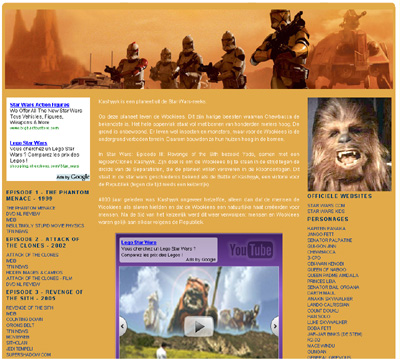 KATHER Produkties: planets of starwars: kashyyyk
