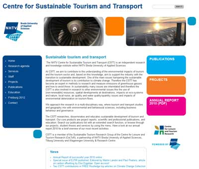 Lectoraat Centre for Sustainable Tourism and Transport 2013