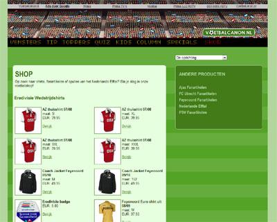 KATHER Produkties: voetbalcanon.nl - webshop