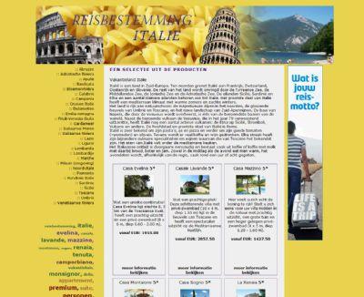 Reisbestemming Italie