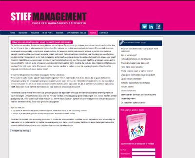 StiefManagement.nl: dynamische webformulieren