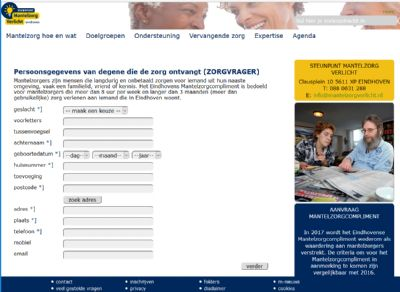 Steunpunt Mantelzorg Verlicht - aanvraag mzc 2017